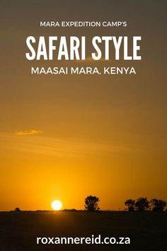 Safari style at the Maasai Mara, #Kenya #safari #Africa #travel