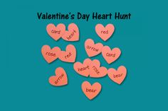 Speech Therapy Ideas: Valentine's Day Heart Hunt. Pinned by SOS Inc. Resources. Follow all our boards at pinterest.com/sostherapy/ for therapy resources.