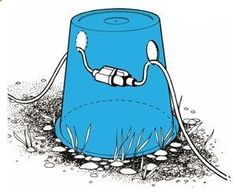 Protect an outdoor RV power cord (or any power cord) with an upside-down bucket - ruggedthug