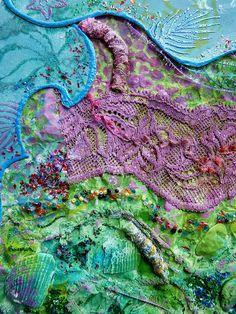 Detail Caught in waters 2 by Karen Cattoire, via Flickr
