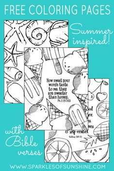 Want to add a little color to your life? Print these summer inspired free coloring pages with Bible verses today!