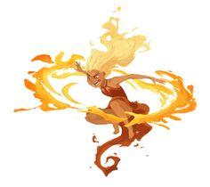 A khaleesi inspired fire sprite! Fantasy Character Design, Character Drawing, Character Design Inspiration, Character Concept, Concept Art, Cartoon Kunst, Cartoon Art, Colorful Drawings, Cool Drawings