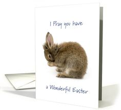 New Card I just added! I pray you have a Wonderful Easter - Bunny praying - Happy Easter card