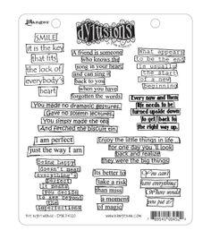 Dyan Reaveley's Dylusions Cling Stamp Collection-The Right Words, , hi-res