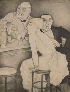 Feb. 1932, Wirtschaftssymptom (Economic symptom). Jeanne Mammen