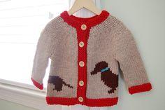 Willie  by pamela wynne    Published in  Flint Knits $6 knitting pattern cardigan dog sweater