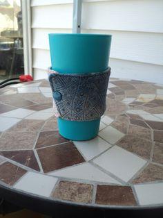 wrap scrap Coffee Cozy... *awesome idea*