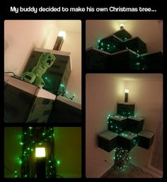 Minecraft Christmas tree, you're doing it right.