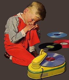 Kids and their record players.