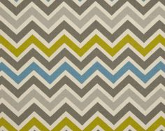 Premier Prints Zoom Zoom- Summerland/Natural Chevron- Fabric by the Yard