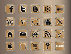 elementy sieci web i więcej / social media icon and other