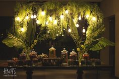bar mitzvah, ambientación, cumpleaños de varón, celebración judía  decor, birthday boy, Jewish celebration, candy bar, golosinas, kiosco, instalación de luces y follaje