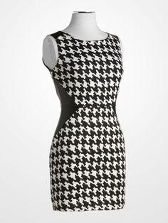3890f8d2 #black #white #blackandwhite #houndstooth #sheath #dress #fallfashion. K&G  Fashion