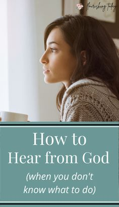 Are you stuck in a situation where you don't know what to do? Here are a few tips on how you can hear from God in those uncertain situations. #bible #scripture #bibleverse Christian Women, Christian Living, Christian Faith, Spiritual Health, Spiritual Growth, Biblical Inspiration, Praying To God, Christian Encouragement, Anxiety Relief
