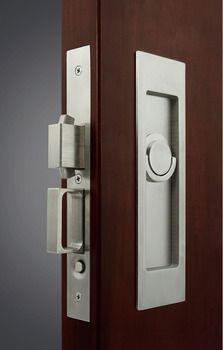 Sliding Pocket Door Lock With Edge Pull For Inactive Door In The Hafele America Shop In 2020 Pocket Door Lock Pocket Doors Sliding Pocket Doors