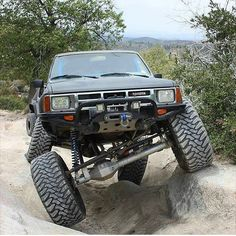 Decals are for sale in our store. Toyota Hilux, Toyota 4x4, Toyota Trucks, Lifted Trucks, 1st Gen 4runner, Luxury Cars, Monster Trucks, Vehicles, Mud