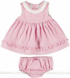 Stripe Dress & Panties - MAYORAL 1875 - Short Sleeves & Sleeveless - Dresses - Girls - Little Cherubs Clothing