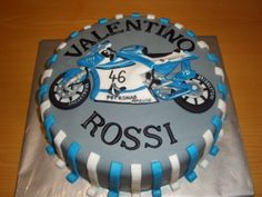 cake motor bike dort s motorkou Valentino Rossi