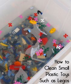 Kids have many toys, however they rarely get cleaned.  All toys should be cleaned every month or so, especially if your child has been sick.  Be careful with any plastic toys that are painted since the paint could scratch or come off during cleaning.  Here are a few options for cleaning Legos.