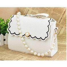 Women handbag stereotypes polka dots shoulder bag