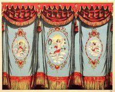 Toy Theater Curtain via http://www.nrwhits.de/veranstaltungen/clemens-sels-museum-neuss/papiertheater-faust.18515.html