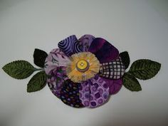 Polka Dot Pineapple: Scrappy Patchwork Flower
