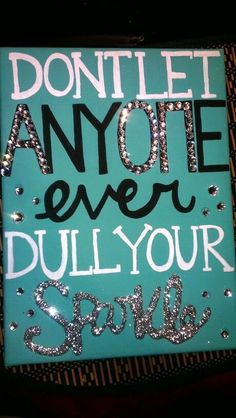 DIY Inspiration for college dorm wall art or for a gift for a new high school graduate or  sorority sister,
