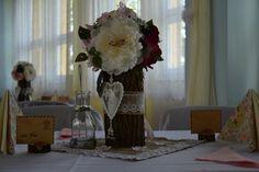 Dekorácia na stôl - vintage,