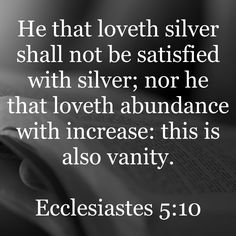 Ecclesiastes 5:10 | Bible Promises