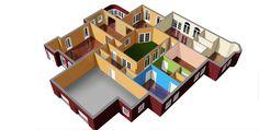 custom rendered floor plan