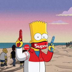 Check out this awesome collection of Supreme Bart Simpson wallpapers, with 48 Supreme Bart Simpson wallpaper pictures for your desktop, phone or tablet. Simpson Wallpaper Iphone, Cartoon Wallpaper, Dope Wallpaper Iphone, White Wallpaper, Simpsons Supreme, Bart Simpson Tumblr, Bart Simpson Pictures, Marshmello Wallpapers, Bape Wallpapers