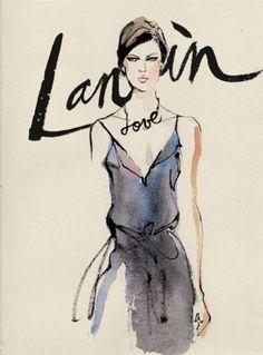 fashion illustration by Regina Yazdi for Lanvin Fall-2013