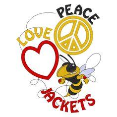 Peace (108) Peace Love Jackets Applique 5x7