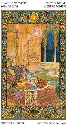 Nombre: Tarot of the Thousand and One Nights. Pais: Italia . Fabricante:Lo Scarabeo  Dibujante Léon Carré Fecha:: 2005