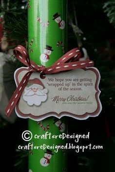 """""""We hope you are getting """"wrapped up"""" in the spirit of the season."""" - Neighbor Gift"""
