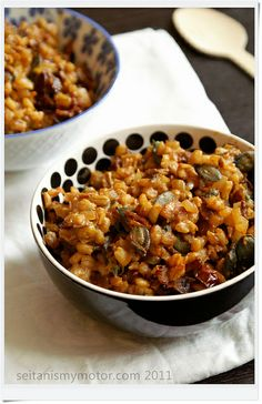 Barley with Dried Tomatoes and Porcini Mushrooms