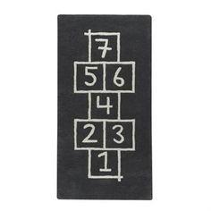 Hopscotch rug - asphalt (dark grey) - Kateha