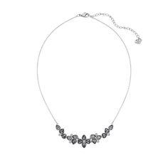 "Swarovski ""Bunch"" Necklace*  #Swarovski #Jewelry #Crystals #FallWinter2014 #MarianaCarmona #JewelleryDesigner #DarkRomance #Black #BlackCrystal #Flower"