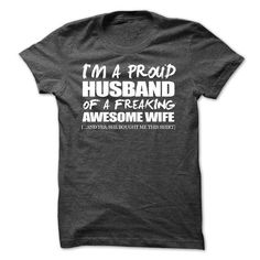 A Proud Husband T Shirts, Hoodies, Sweatshirts. CHECK PRICE ==► https://www.sunfrog.com/No-Category/A-Proud-Husband.html?41382