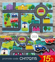 Children Quiet Book [D03] Single Page : Customized, soft toy, for children, busy book