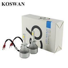 (27.60$)  Buy here - http://aim7h.worlditems.win/all/product.php?id=32711510289 - C6 LED Headlight Bulb H1 -12V/24V Universal 72w 7,600Lm 6000K Cool White COB 1 years warranty (H1)  LED Headlamp Bulb H1