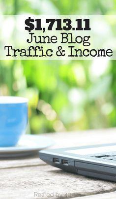 $1,713,11 June Blog Traffic & Income http://www.retiredby40blog.com/2015/07/06/june-blog-traffic-income-report/
