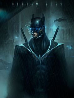 The Batman of Gotham 2054. | 17 Visions Of Batman Throughout The Ages [ AutonomousAvionics.com ] #Geek #funny #technology