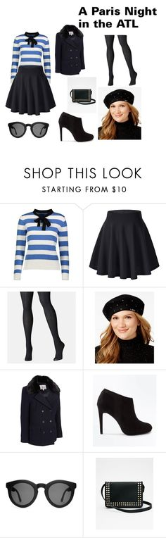 """""""A Paris Night in the Atl"""" by asmarakymuhammad on Polyvore featuring YAL New York, Avenue, Calvin Klein, G.H. Bass & Co., New Look, Crap and Express"""