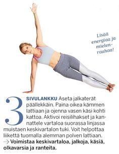 Aineenvaihdunta käyntiin ja lisää energiaa! Herätä keho 10 minuutin joogasarjalla | Me Naiset Hiit, Pilates, Workout, Jenni, Stretching, Shape, Pop Pilates, Work Out, Stretching Exercises