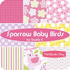 Sparrow Baby Birds Fat Quarter Bundle Studio E Fabrics