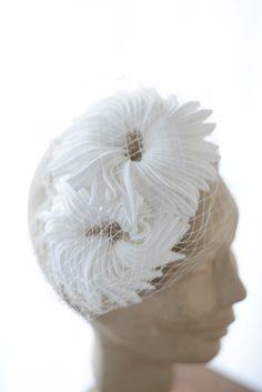 Origami wedding headpiece by www.parantparant.se