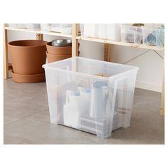 IKEA - SAMLA Box transparent