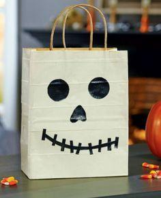 DIY Duck Tape® Glow in the Dark Skeleton Treat Bag