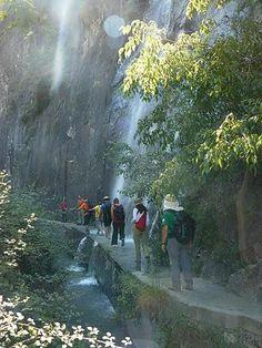 Walking the hanging bridges of Los Cahorros Monachil, Granada